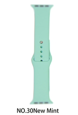 Classic silicone replacement band strap for Apple Watch band series 6 5 4 3 2 1 Band Color:# 30 new mint,Band Width:42/44mm S/M