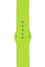Classic silicone replacement band strap for Apple Watch band series 6 5 4 3 2 1 Band Color:# 32 green,Band Width:42/44mm S/M