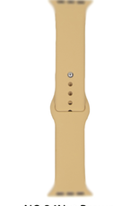 Classic silicone replacement band strap for Apple Watch band series 6 5 4 3 2 1 Band Color:# 34 nut Brown,Band Width:42/44mm S/M