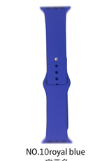 Classic silicone replacement band strap for Apple Watch band series 6 5 4 3 2 1 Band Color:# 10 royal blue,Band Width:42/44mm M/L