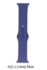 Classic silicone replacement band strap for Apple Watch band series 6 5 4 3 2 1 Band Color:# 11 navy blue,Band Width:42/44mm M/L