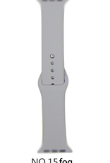 Classic silicone replacement band strap for Apple Watch band series 6 5 4 3 2 1 Band Color:# 15 fog,Band Width:42/44mm S/M