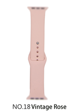 Classic silicone replacement band strap for Apple Watch band series 6 5 4 3 2 1 Band Color:# 18 vintage rose,Band Width:42/44mm S/M