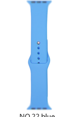 Classic silicone replacement band strap for Apple Watch band series 6 5 4 3 2 1 Band Color:# 22 blue,Band Width:42/44mm S/M