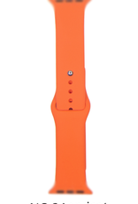 Classic silicone replacement band strap for Apple Watch band series 6 5 4 3 2 1 Band Color:# 24 apricot,Band Width:42/44mm S/M