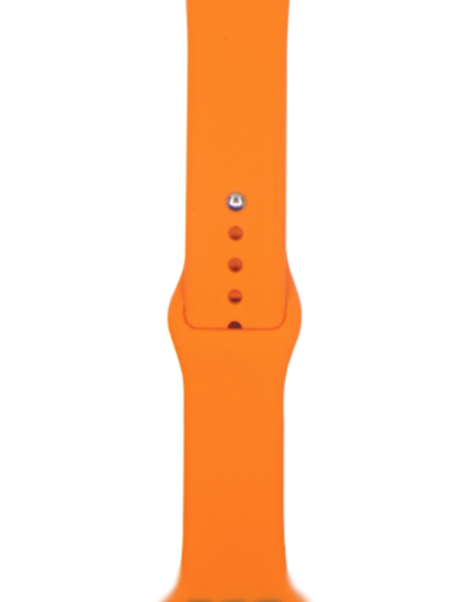 Classic silicone replacement band strap for Apple Watch band series 6 5 4 3 2 1 Band Color:# 25 orange,Band Width:42/44mm S/M