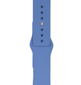 Classic silicone replacement band strap for Apple Watch band series 6 5 4 3 2 1 Band Color:# 14 denim blue,Band Width:38/40mm M/L