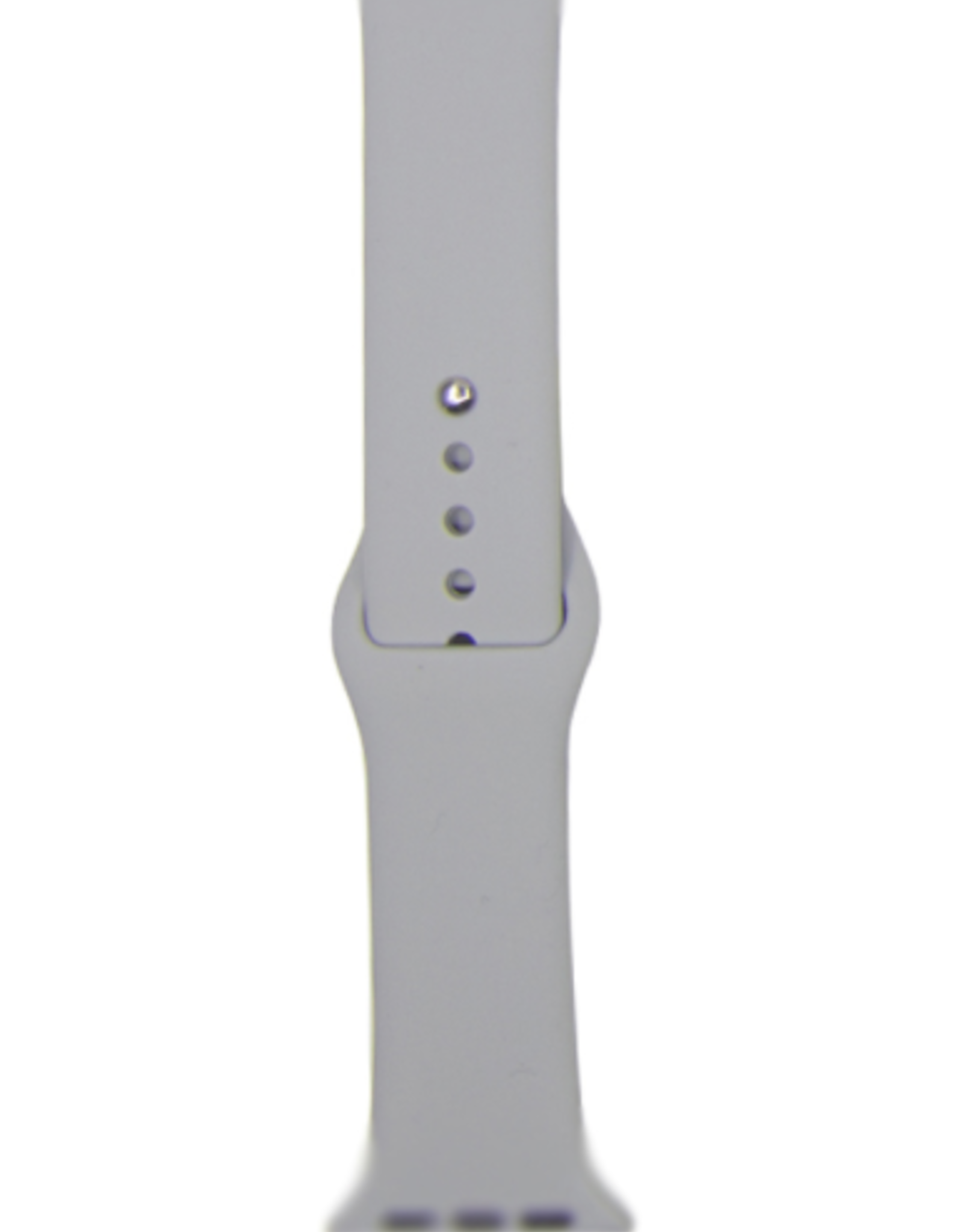 Classic silicone replacement band strap for Apple Watch band series 6 5 4 3 2 1 Band Color:# 15 fog,Band Width:38/40mm M/L