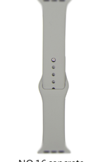 Classic silicone replacement band strap for Apple Watch band series 6 5 4 3 2 1 Band Color:# 16 concrete,Band Width:38/40mm M/L