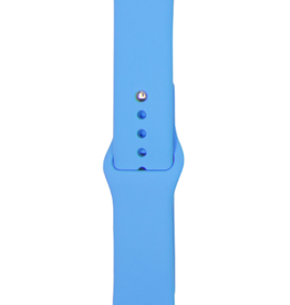 Classic silicone replacement band strap for Apple Watch band series 6 5 4 3 2 1 Band Color:# 22 blue,Band Width:38/40mm M/L