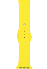 Classic silicone replacement band strap for Apple Watch band series 6 5 4 3 2 1 Band Color:# 27 yellow,Band Width:38/40mm M/L