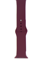 Silicone band for Apple Watch Color:# 2 Wine Red 38/40mm M/L