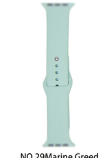 Classic silicone replacement band strap for Apple Watch band series 6 5 4 3 2 1 Band Color:# 29 marine green,Band Width:38/40mm M/L