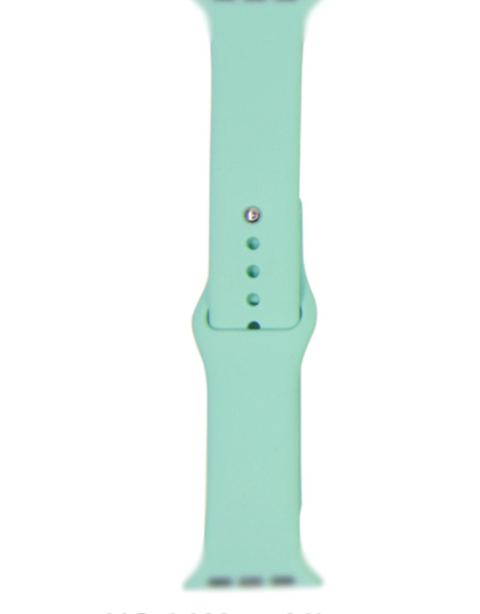 Classic silicone replacement band strap for Apple Watch band series 6 5 4 3 2 1 Band Color:# 30 new mint,Band Width:38/40mm M/L