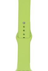 Classic silicone replacement band strap for Apple Watch band series 6 5 4 3 2 1 Band Color:# 31 mint,Band Width:38/40mm M/L