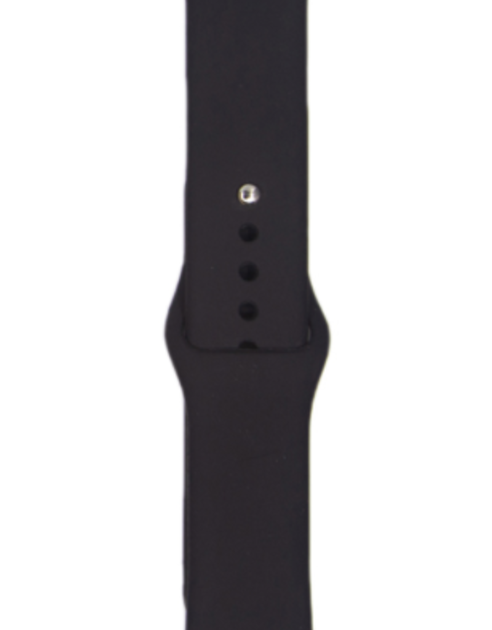 Classic silicone replacement band strap for Apple Watch band series 6 5 4 3 2 1 Band Color:# 35 black,Band Width:38/40mm M/L