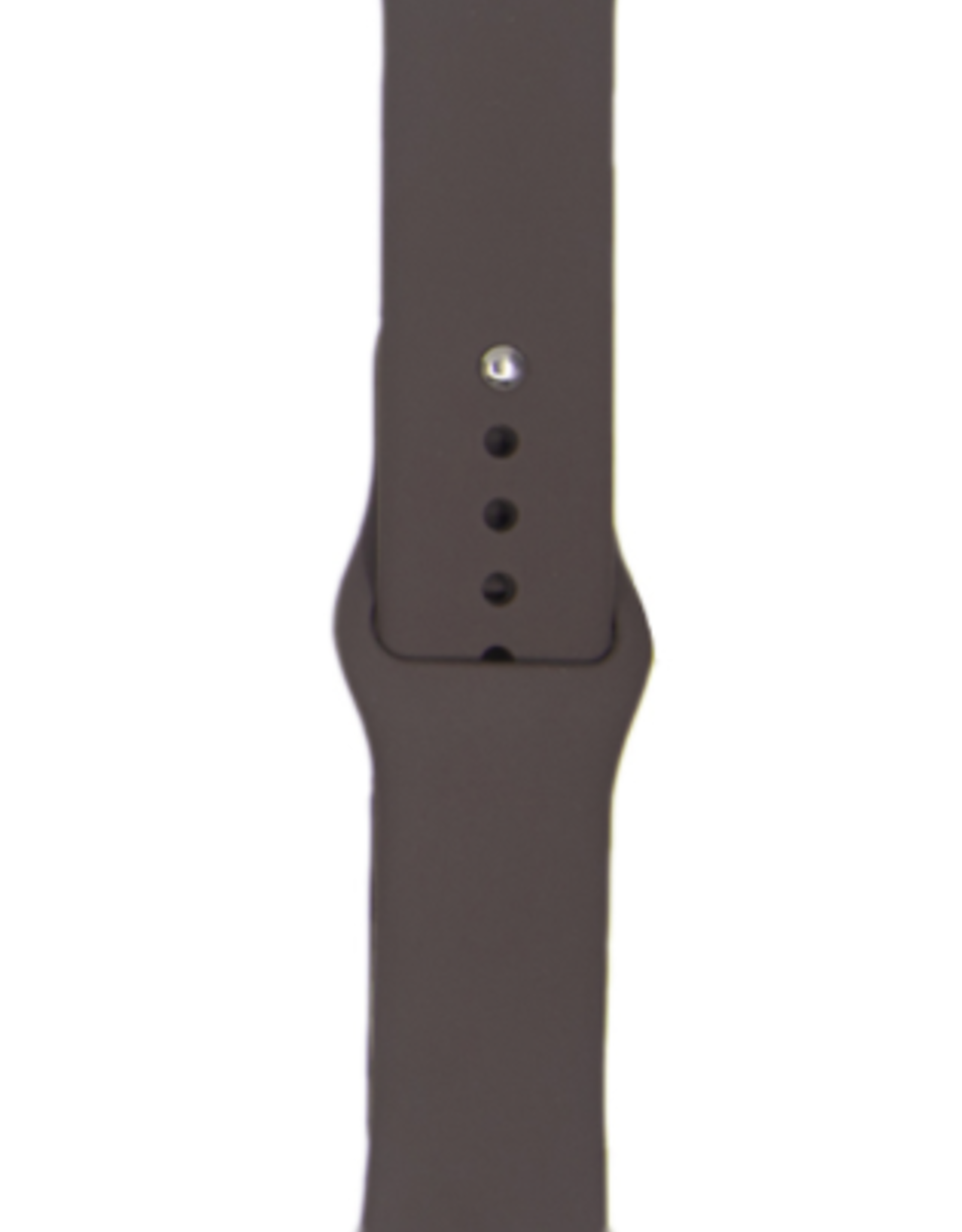 Classic silicone replacement band strap for Apple Watch band series 6 5 4 3 2 1 Band Color:# 36 cocoa,Band Width:38/40mm M/L