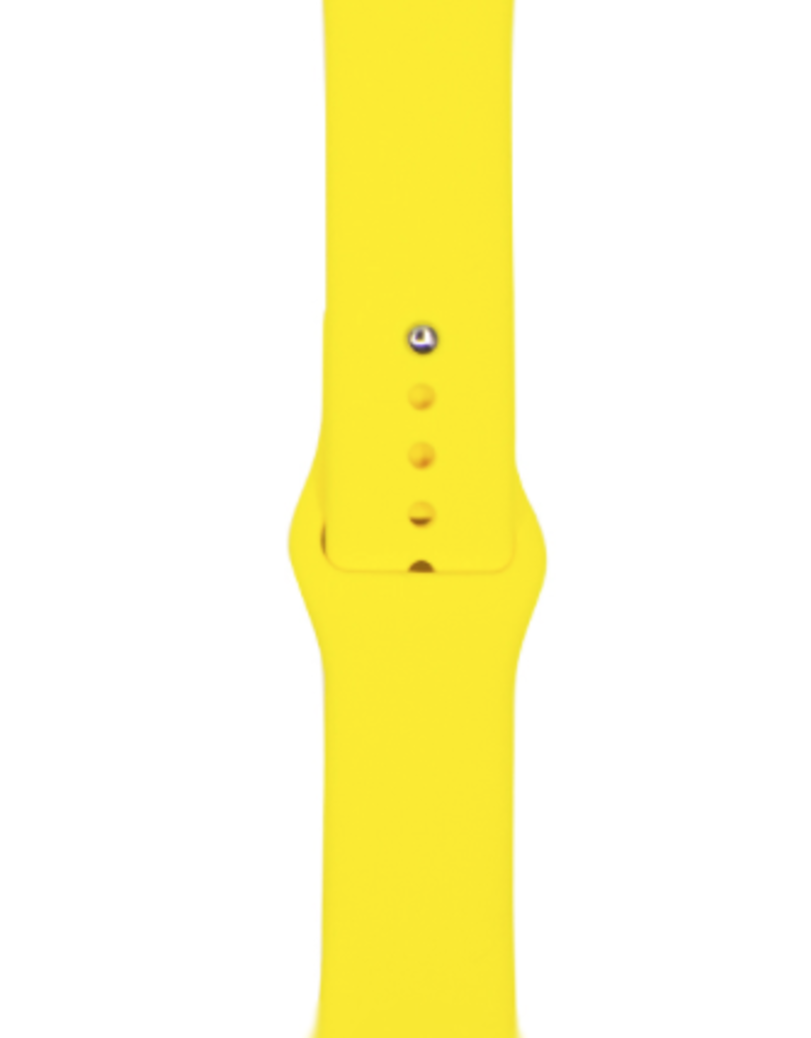 Classic silicone replacement band strap for Apple Watch band series 6 5 4 3 2 1 Band Color:# 27 yellow,Band Width:38/40mm S/M