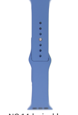 Classic silicone replacement band strap for Apple Watch band series 6 5 4 3 2 1 Band Color:# 14 denim blue,Band Width:38/40mm S/M