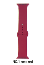 Silicone band for Apple Watch Color:# 1 Rose Red 38/40mm S/M