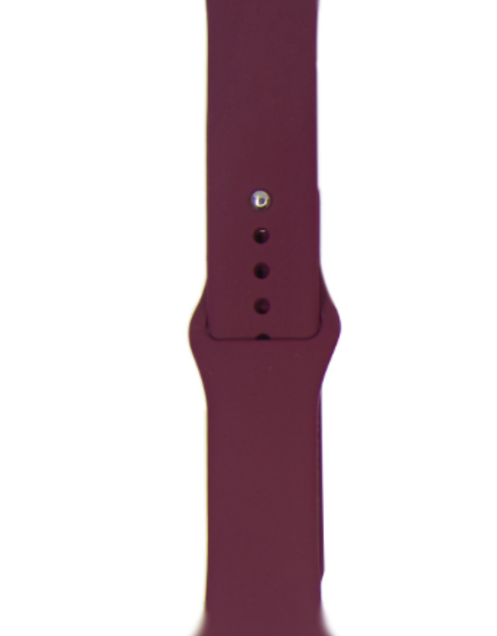 Silicone band for Apple Watch Color:# 2 Wine Red 38/40mm S/M