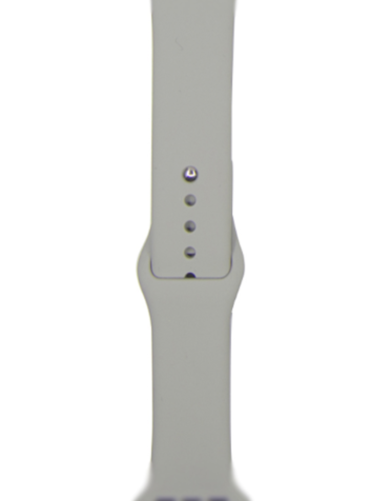 Classic silicone replacement band strap for Apple Watch band series 6 5 4 3 2 1 Band Color:# 16 concrete,Band Width:38/40mm S/M