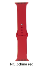 Classic silicone replacement band strap for Apple Watch band series 6 5 4 3 2 1 Band Color:# 3 china red,Band Width:38/40mm S/M