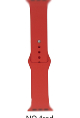 Classic silicone replacement band strap for Apple Watch band series 6 5 4 3 2 1 Band Color:# 4 red,Band Width:38/40mm S/M
