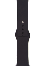 Classic silicone replacement band strap for Apple Watch band series 6 5 4 3 2 1 Band Color:# 35 black,Band Width:38/40mm S/M