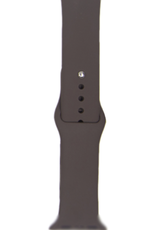 Classic silicone replacement band strap for Apple Watch band series 6 5 4 3 2 1 Band Color:# 36 cocoa,Band Width:38/40mm S/M
