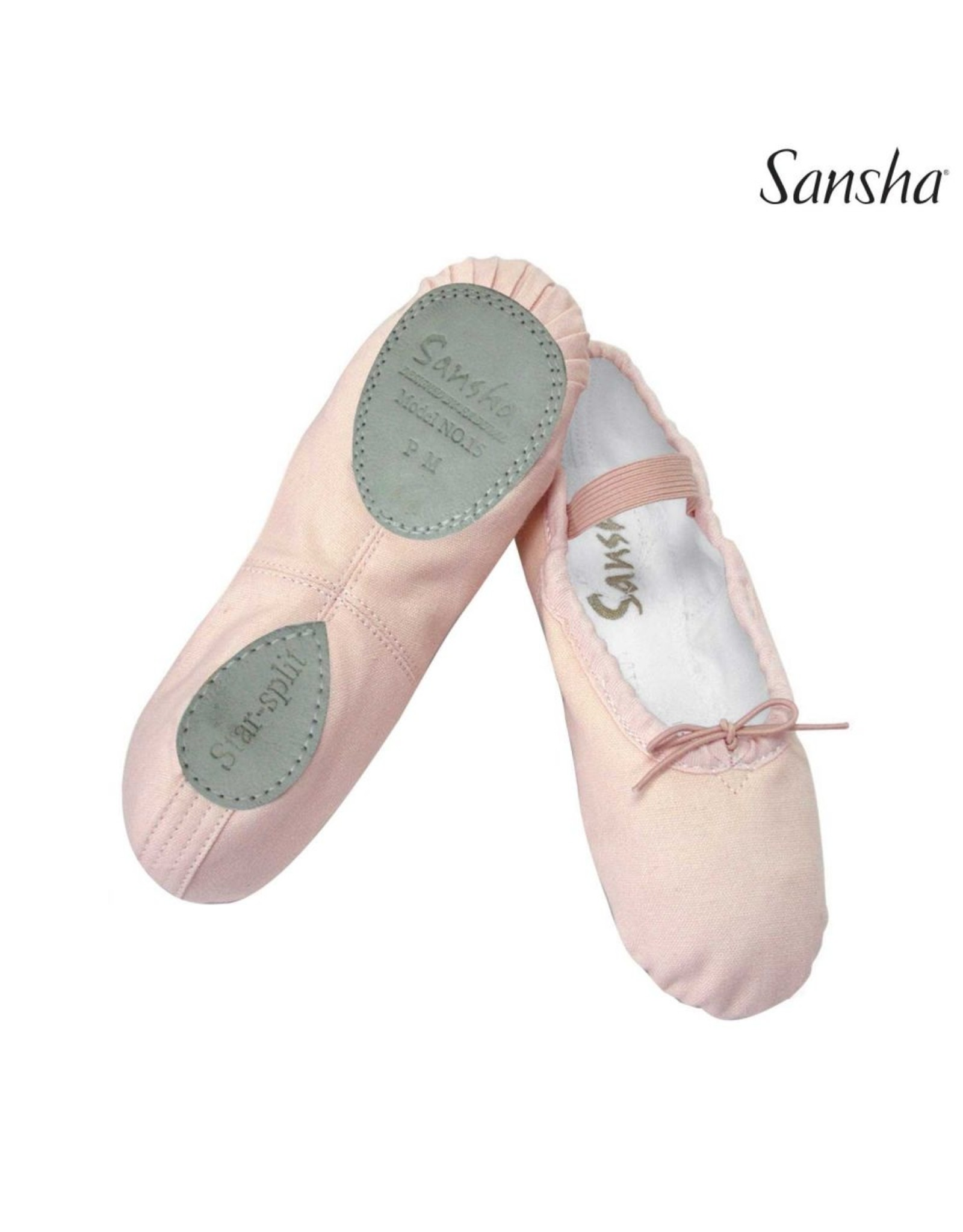 CHILDREN'S SANSHA SPLIT SOLE CANVAS BALLET SLIPPER
