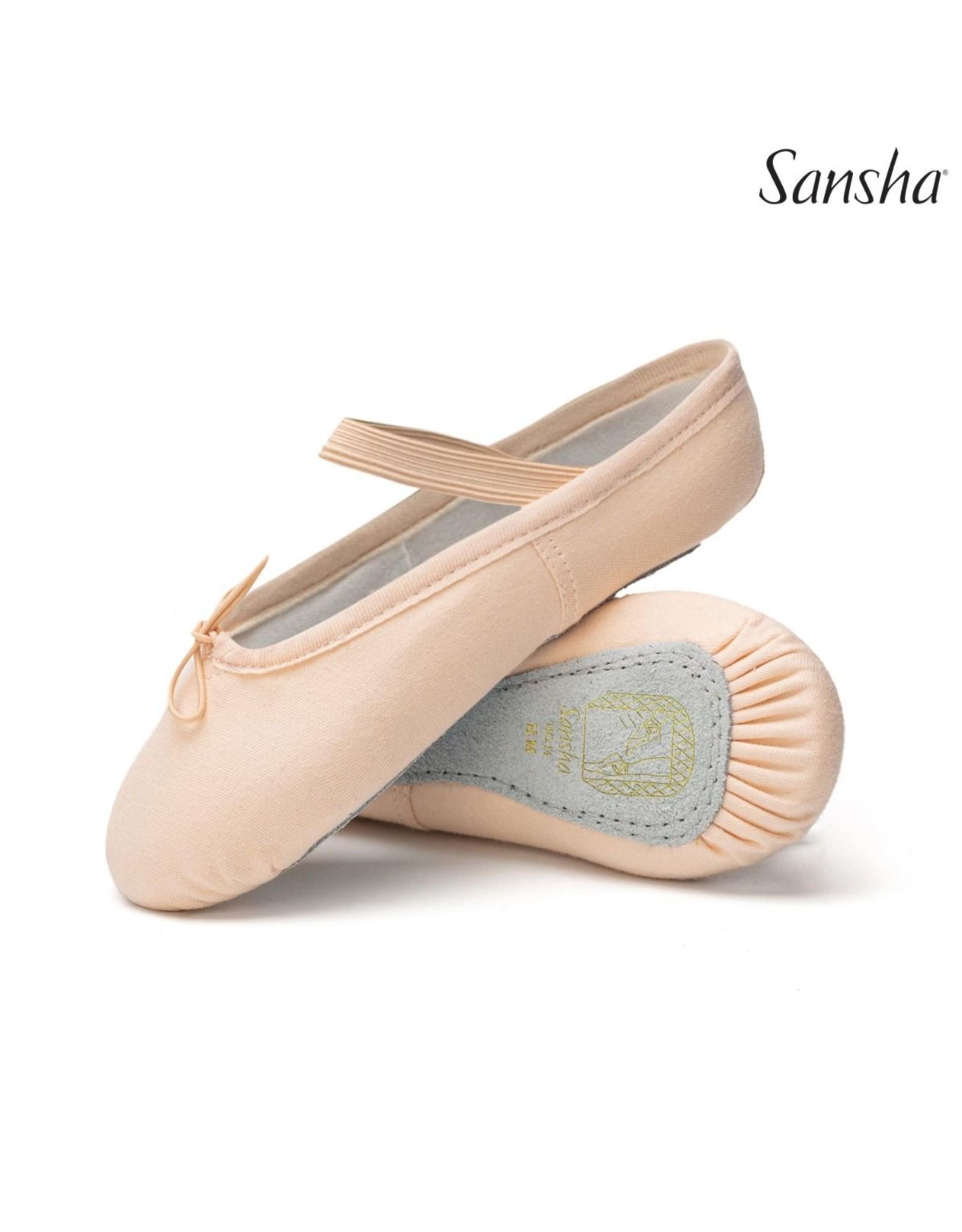 SANSHA FULL SOLE CANVAS BALLET SLIPPER