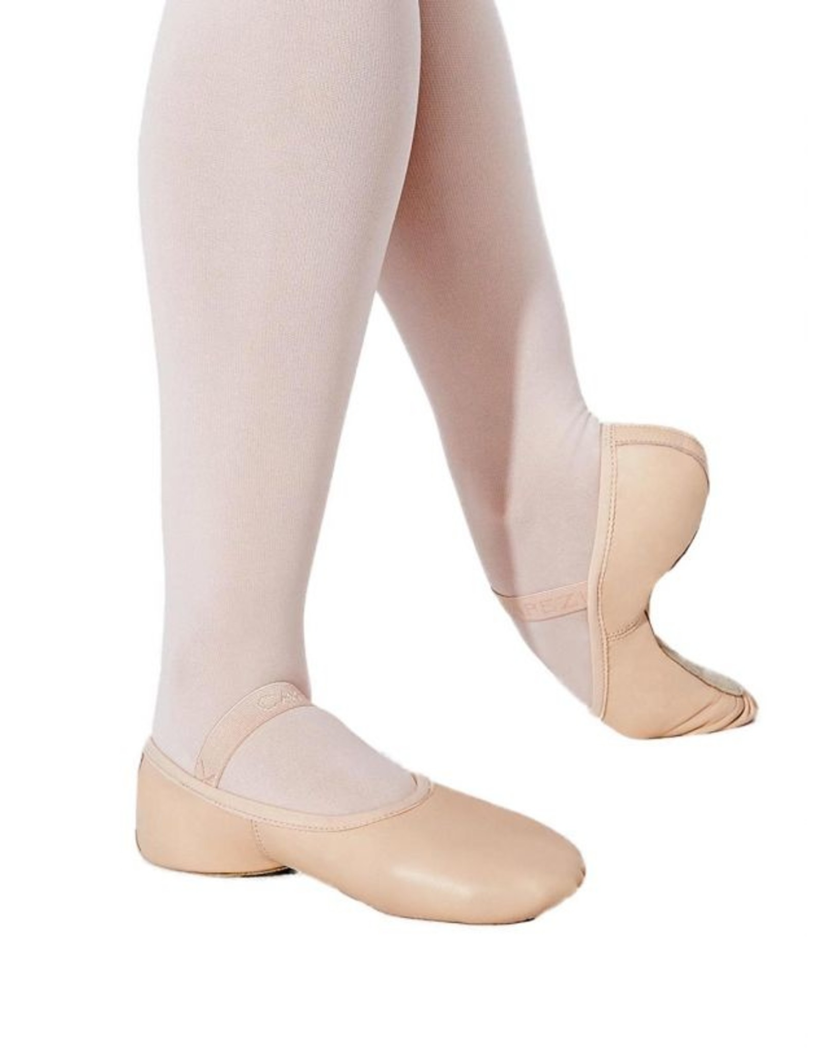 ADULT LILY FULL SOLE LEATHER BALLET SLIPPER