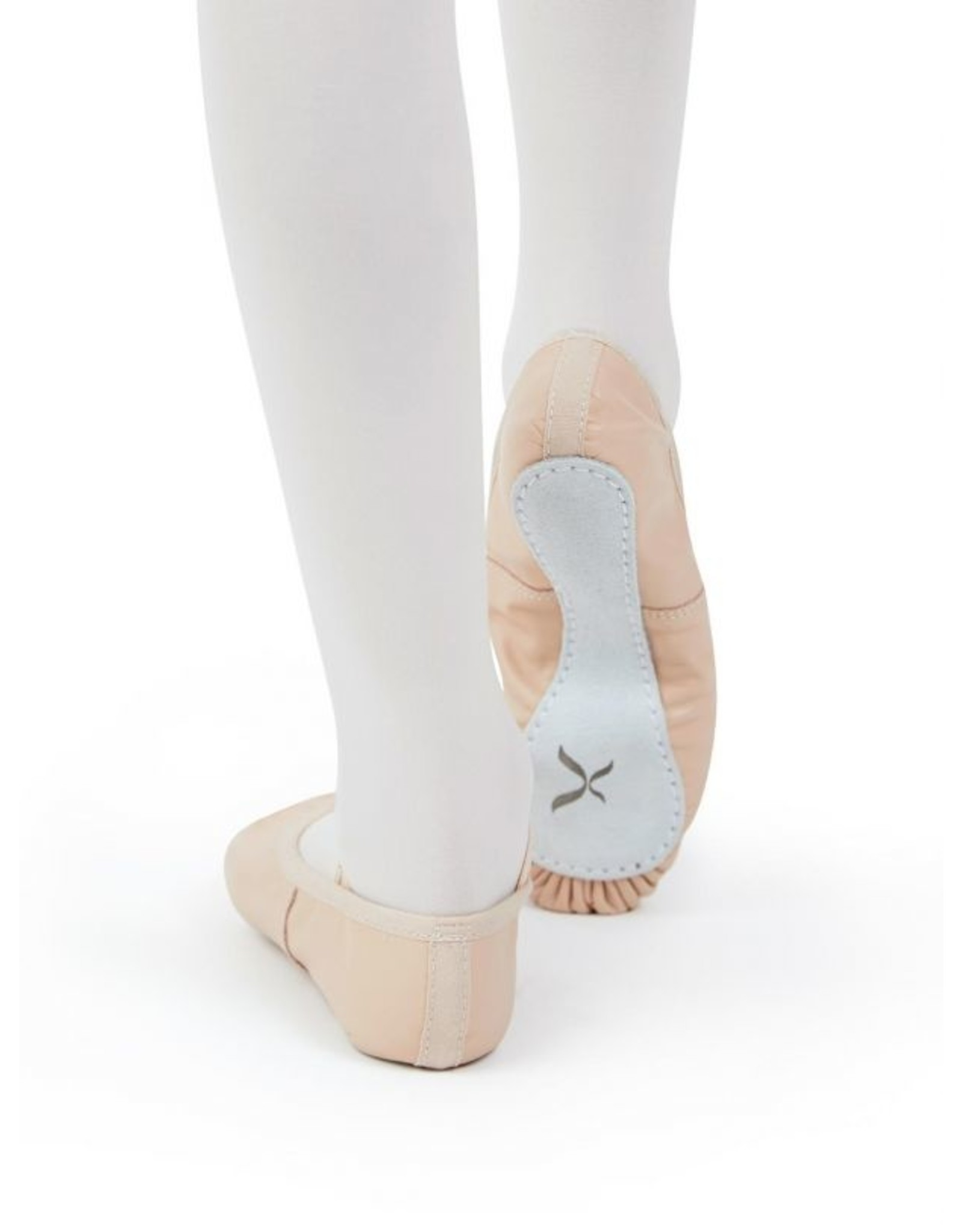 ADULT DAISY LEATHER FULL SOLE BALLET SLIPPER