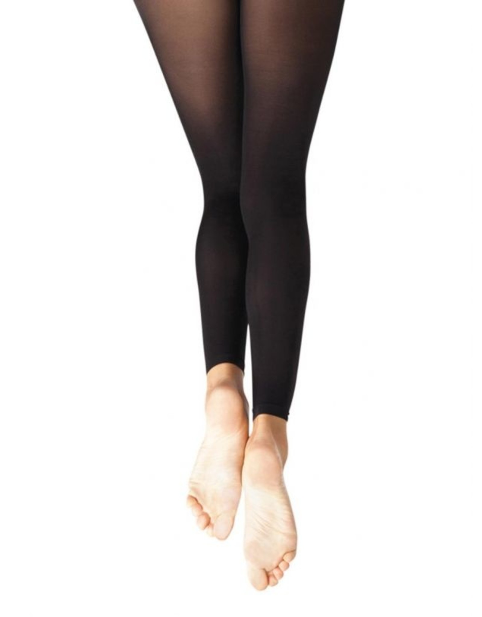 ADULT CAPEZIO FOOTLESS TIGHTS WITH SELF KNIT WAISTBAND - 1917