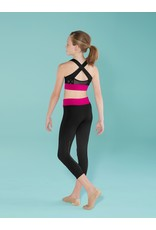 CONTRAST BAND CAPRI LEGGING