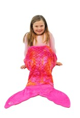 LIMEAPPLE MINKY FAUX FUR MERMAID TAIL SLEEPING BAG