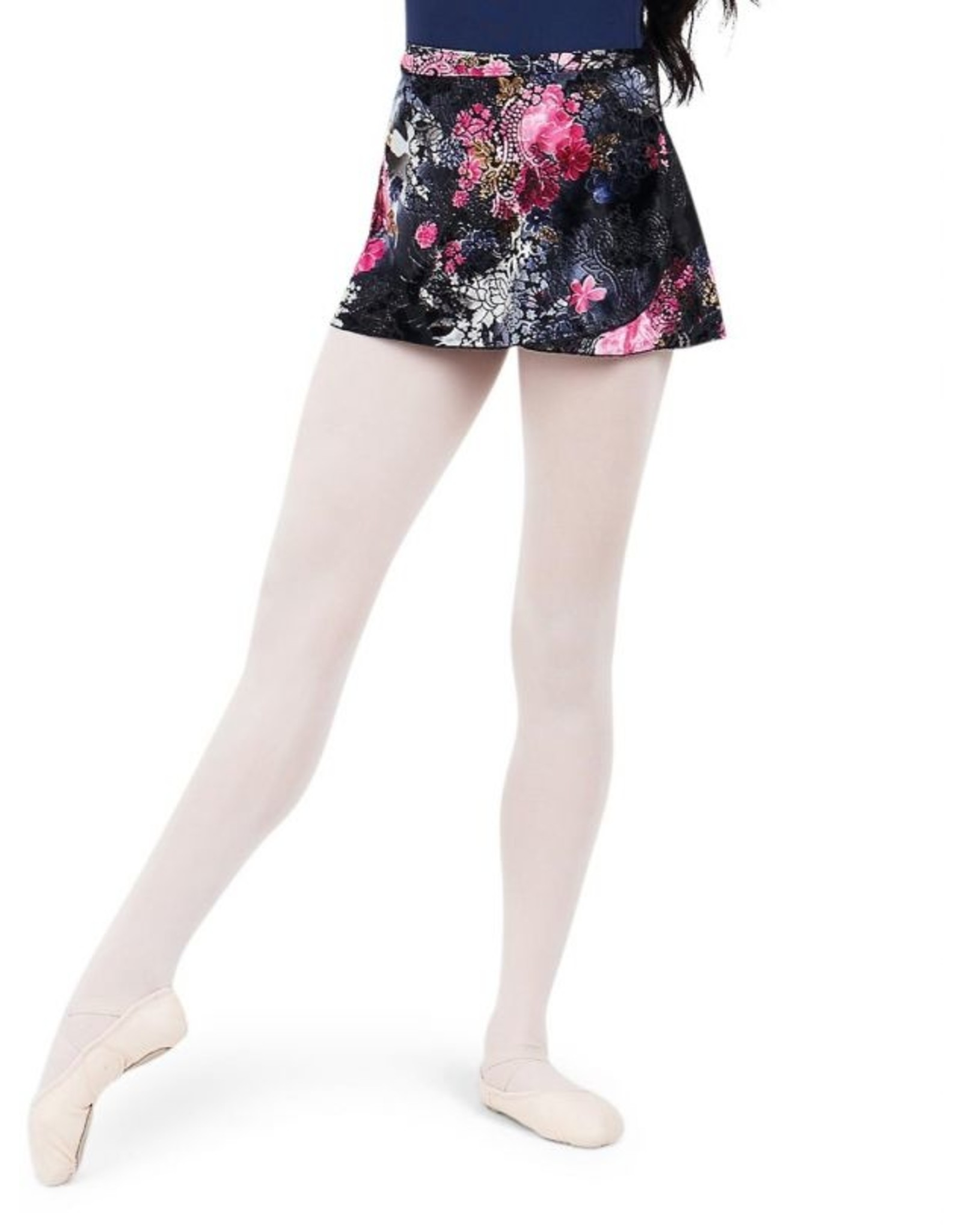 CAPEZIO BOTANICAL WRAP SKIRT