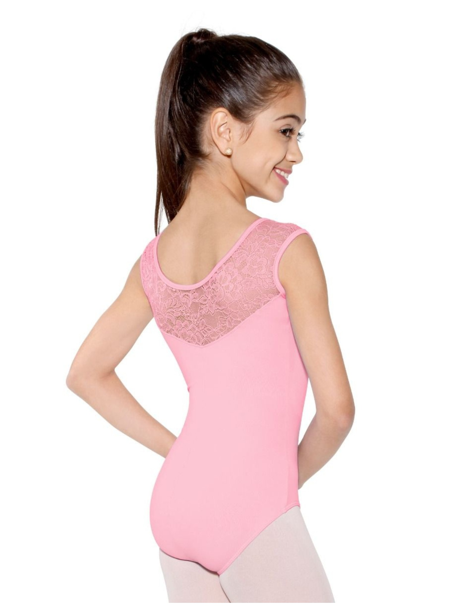 SO DANCA FLORAL LACE TANK LEOTARD