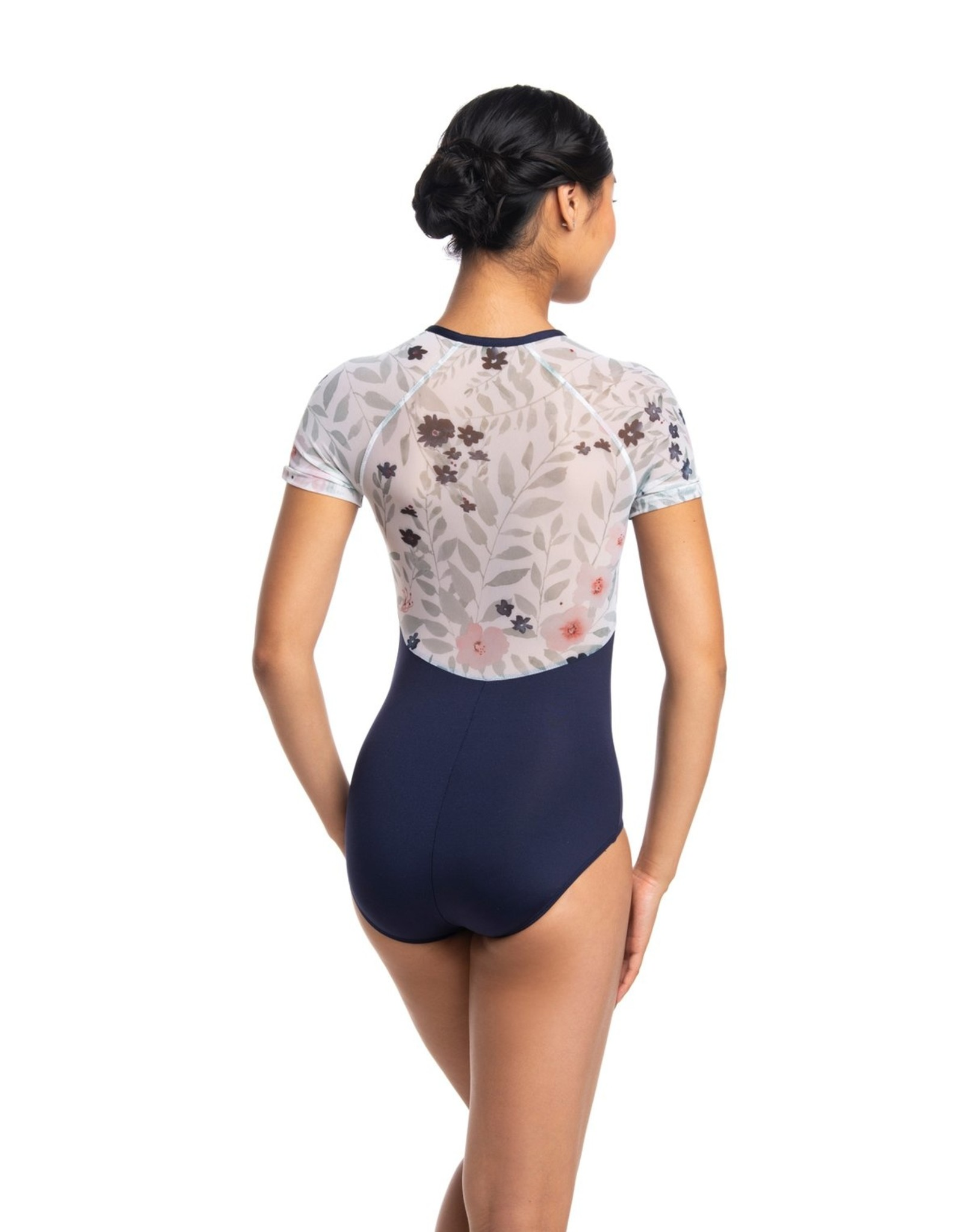 AINSLIEWEAR EMILY LEOTARD WITH PASTEL BLOOM PRINT