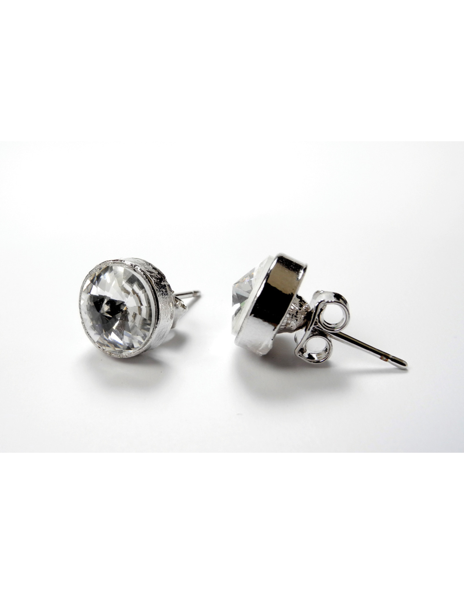 FH2 ROUND PIERCED DIAMOND EARRINGS
