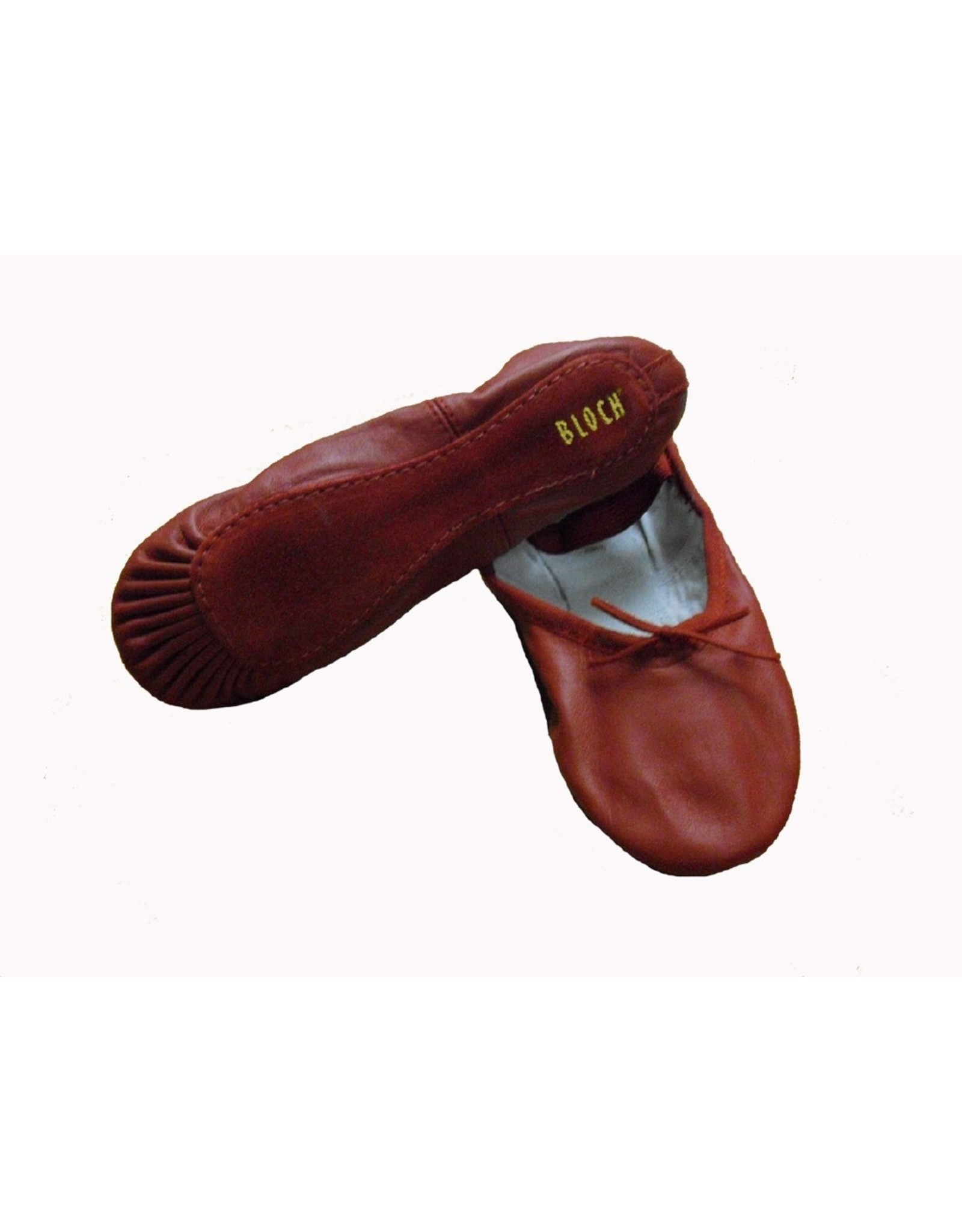 ADULT BLOCH RED DANSOFT LEATHER SLIPPER