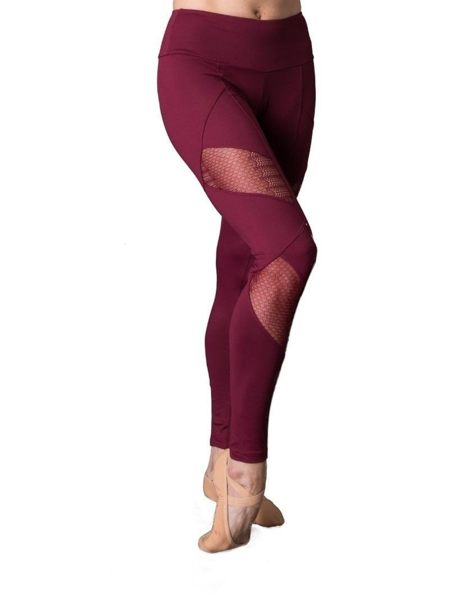 SO DANCA SCALLOPED EDGE LACE LEGGING