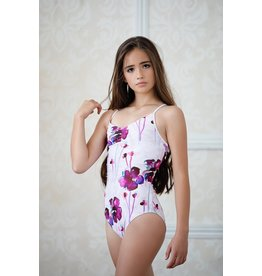 CHIC BALLET DANCEWEAR CO. THE DANIELLE LEOTARD - FUCHSIA FLORAL