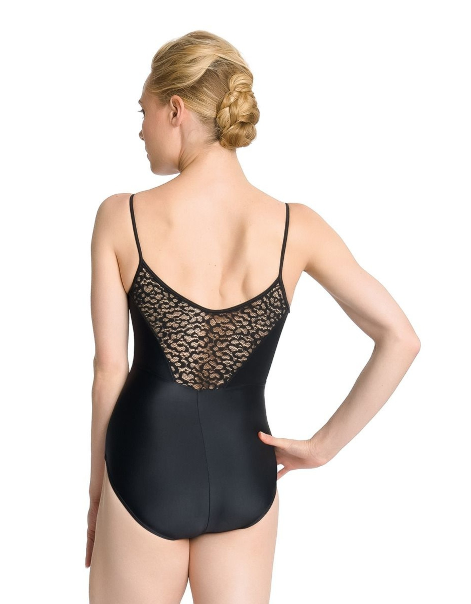 SO DANCA CAMISOLE LEOTARD WITH LACE OVERLAY