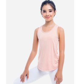 GIRL'S PINK BACK TANK WITH DRAWSTRING