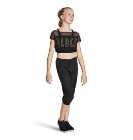 PERFORATED CROP PANT - CHILDREN'S