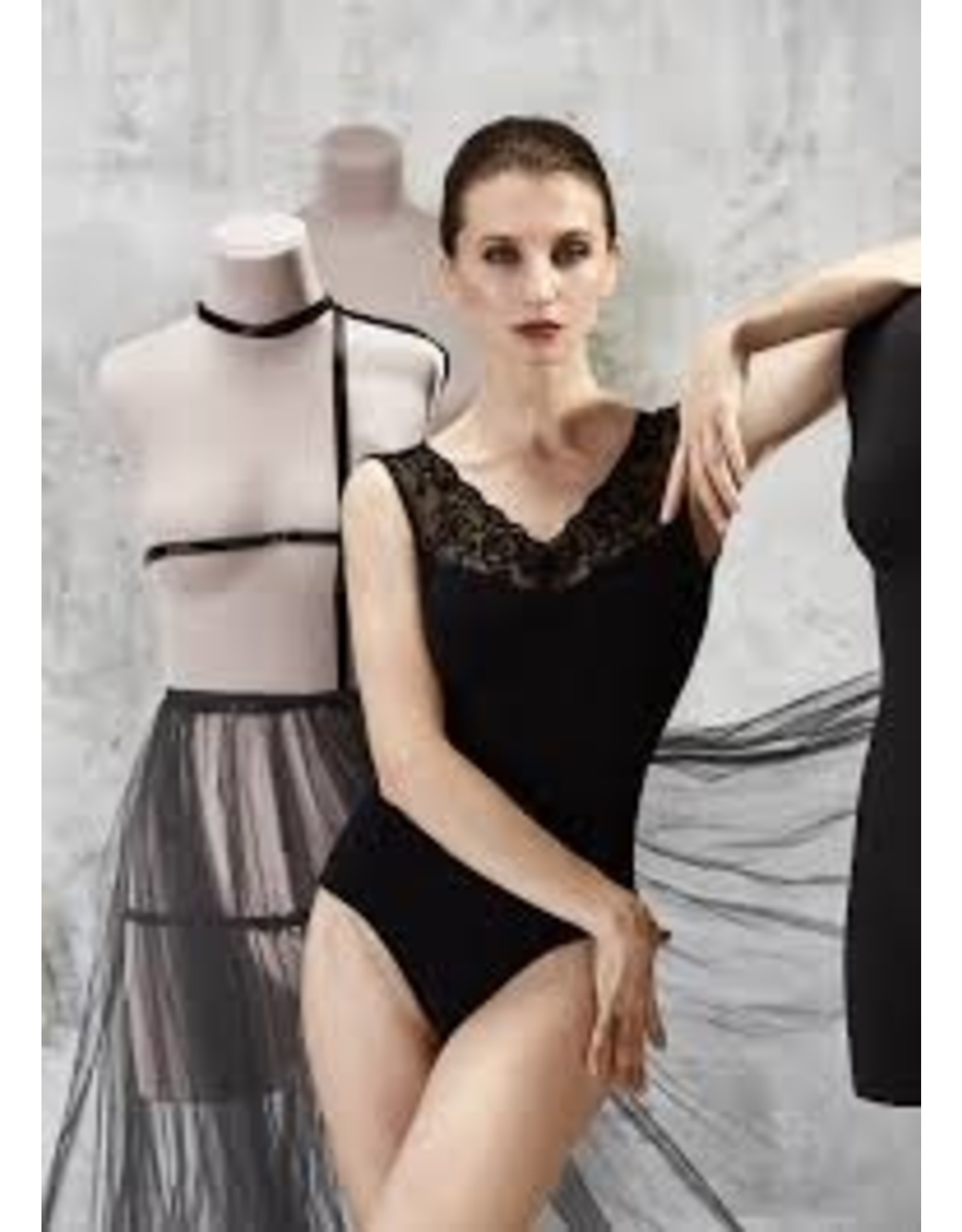 GRISHKO LACE V-NECK LEOTARD