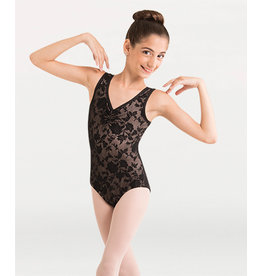 YOUTH FLORAL TANK LEOTARD