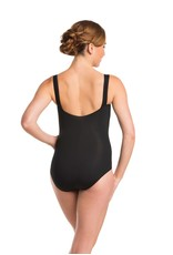 PINCH FRONT WIDE STRAP LEOTARD